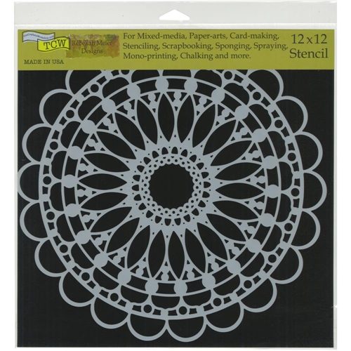 The Crafter's Workshop SCALLOPED MANDALA 12x12 Stencil tcw775 Preview Image