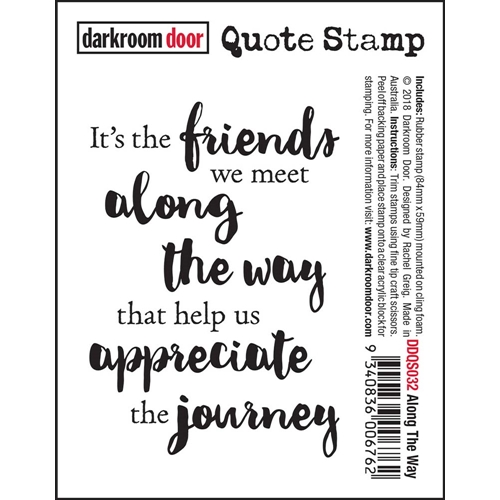 Darkroom Door Cling ALONG THE WAY Quote Stamp ddqs032 Preview Image