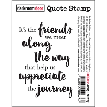 Darkroom Door Cling ALONG THE WAY Quote Stamp ddqs032