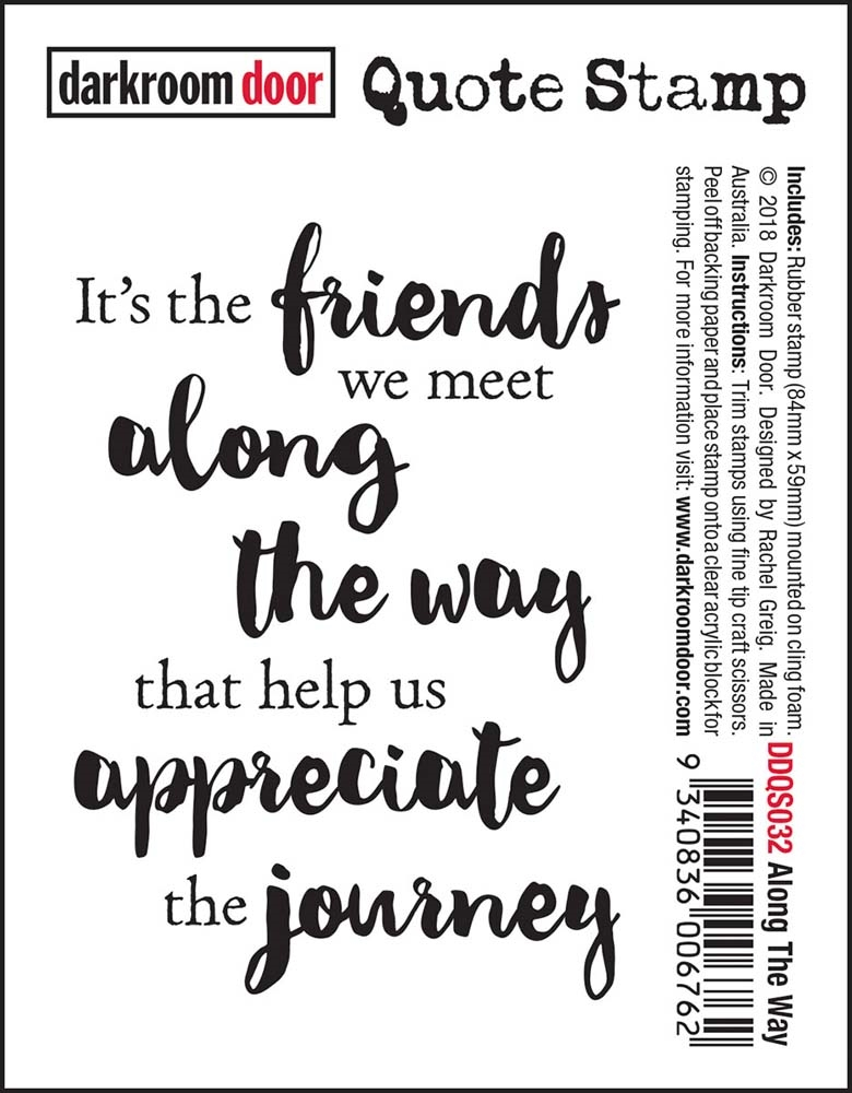 Darkroom Door Cling ALONG THE WAY Quote Stamp ddqs032 zoom image