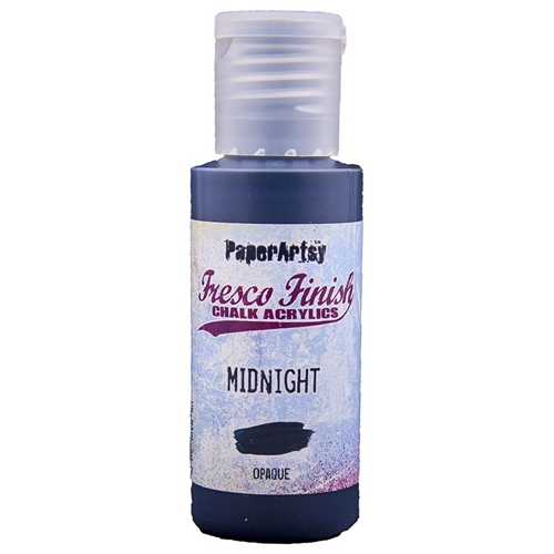 Paper Artsy Fresco Finish MIDNIGHT Chalk Acrylic Paint 1.69oz FF123 Preview Image