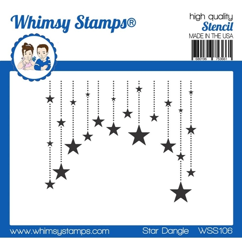 Whimsy Stamps STAR DANGLE Stencil wss106 Preview Image