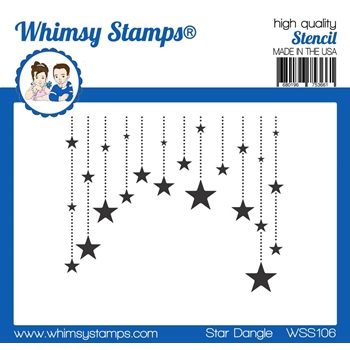 Whimsy Stamps STAR DANGLE Stencil wss106