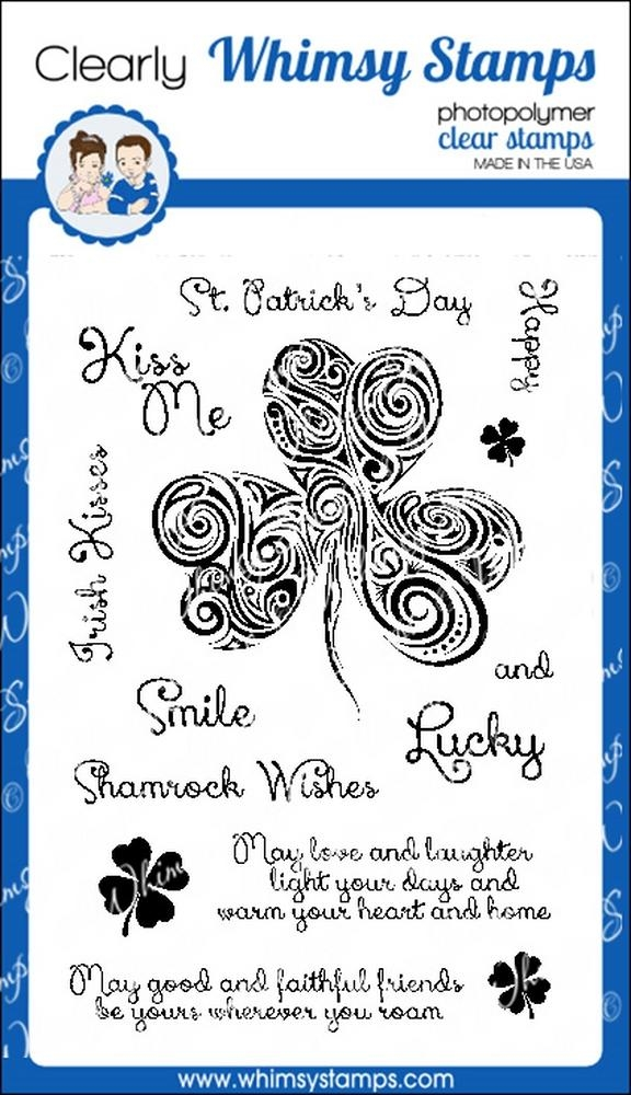 Whimsy Stamps SHAMROCK SWIRL Clear Stamps cwsd257 zoom image