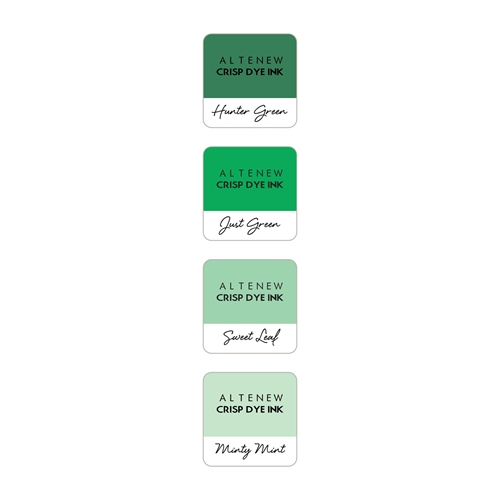 Altenew GREEN MEADOWS Mini Cube Crisp Dye Ink Pad Pack ALT2153 Preview Image