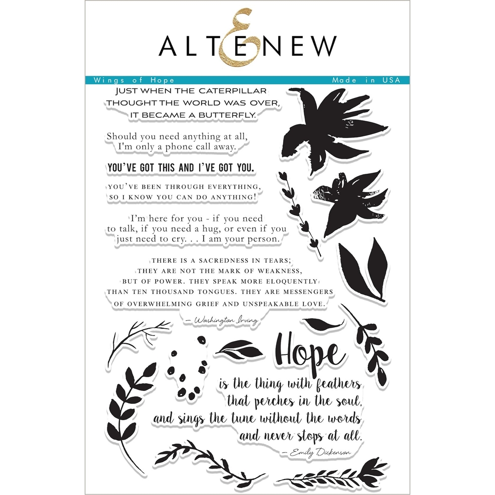 Altenew WINGS OF HOPE Clear Stamp Set ALT2074 zoom image