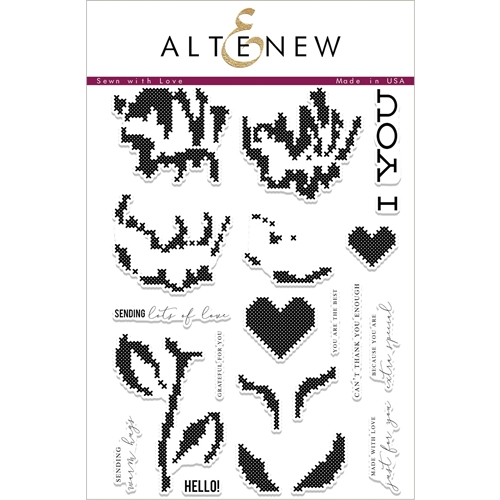 Altenew SEWN WITH LOVE Clear Stamp Set ALT2066* Preview Image