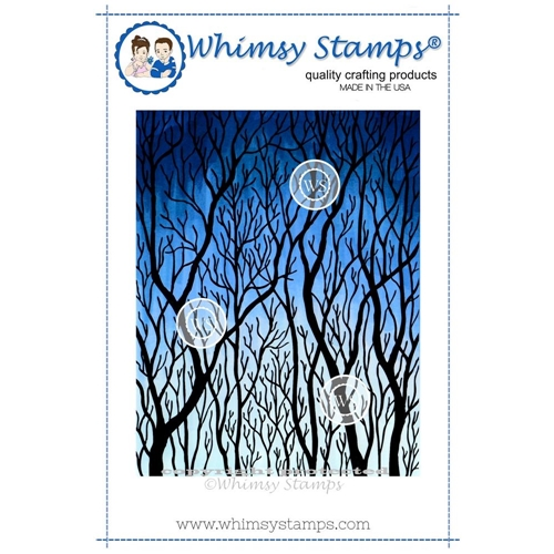 Whimsy Stamps TREE SILHOUETTE Rubber Cling Stamp da1021 Preview Image
