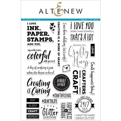 Altenew CRAFTY LIFE Clear Stamp Set ALT2054 Preview Image