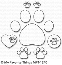 My Favorite Things PAW PRINTS Die-Namics MFT1240 Preview Image