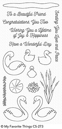 My Favorite Things SPLENDID SWANS Clear Stamps CS273 Preview Image