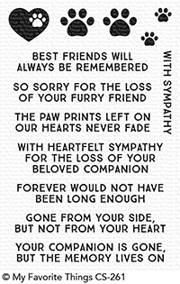My Favorite Things CRITTER CONDOLENCES Clear Stamps CS261