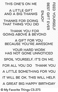 My Favorite Things GIFT CARD GREETINGS Clear Stamps CS275 zoom image