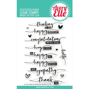 Avery Elle Clear Stamp LOADS OF WISHES ST-18-07
