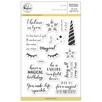 PinkFresh Studio MAGICAL UNICORN Clear Stamp Set pfcs1718