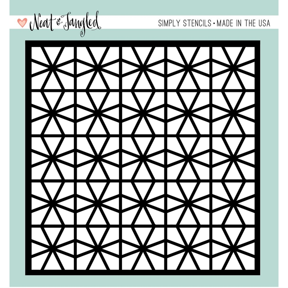 Neat and Tangled GEOMETRIC CIRCLES Stencil NAT353 zoom image