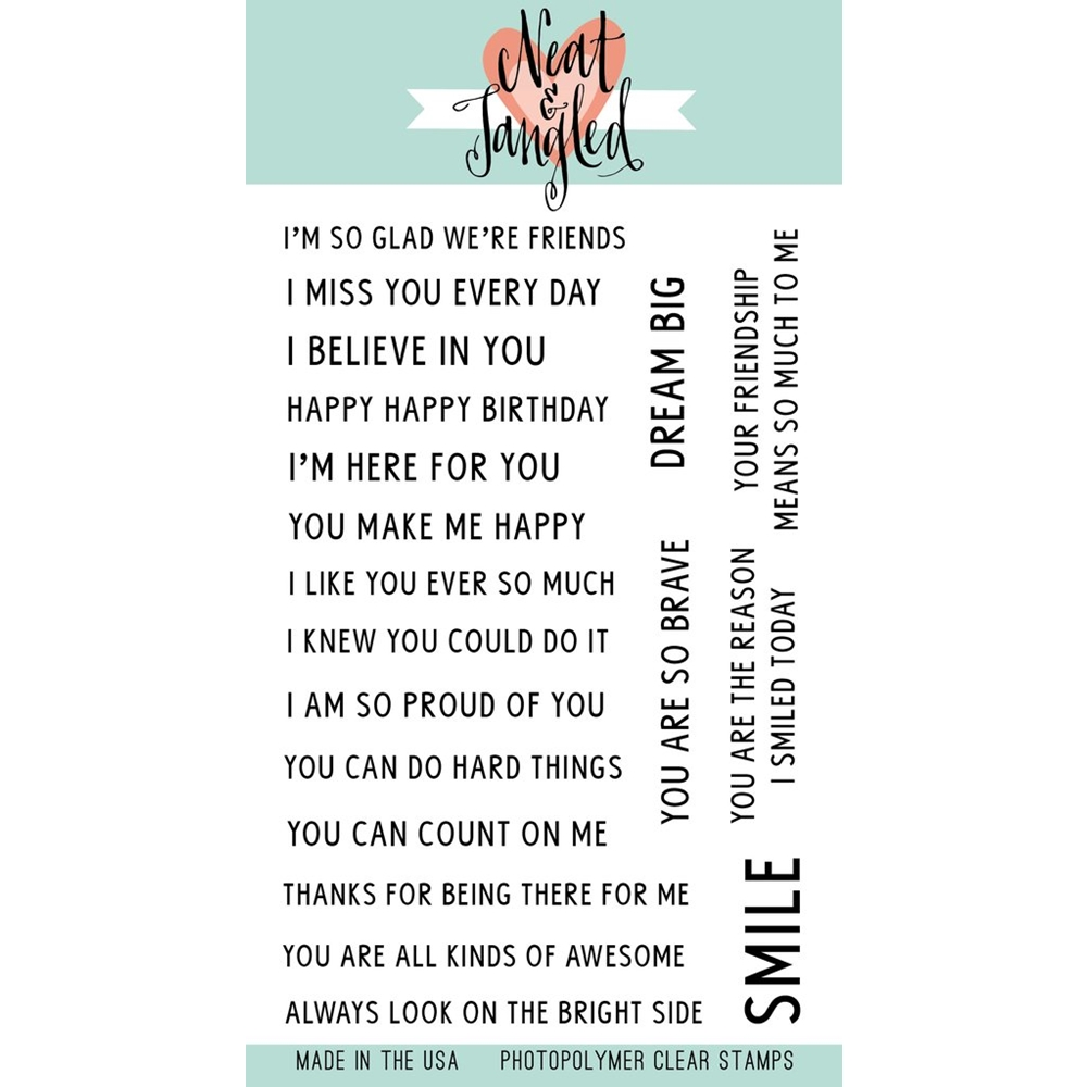 Neat and Tangled SO MANY SENTIMENTS Clear Stamp Set NAT351 zoom image