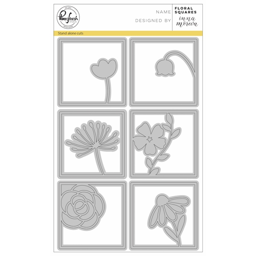 PinkFresh Studio FLORAL SQUARES Die Set pfsa0118 Preview Image
