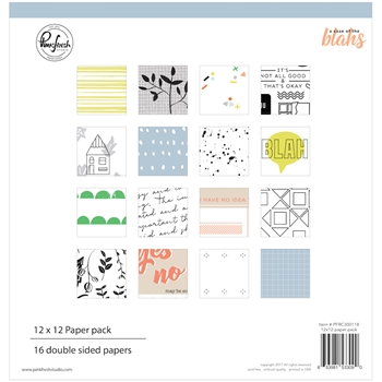 Pinkfresh Studio A CASE OF THE BLAHS 12 x 12 Paper Pack pfrc300118*