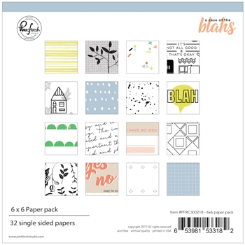 Pinkfresh Studio A CASE OF THE BLAHS 6 x 6 Paper Pack pfrc300218*