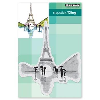 Penny Black Cling Stamp IN PARIS Rubber Unmounted 40 609*