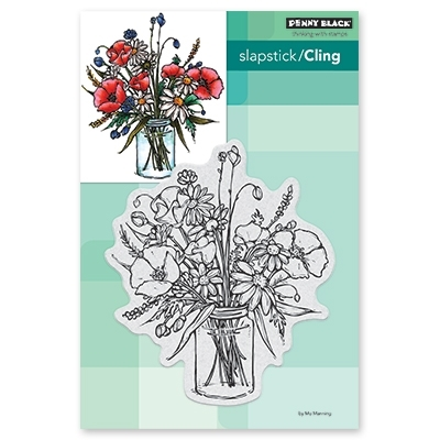 Penny Black Cling Stamp VASE GARDEN Rubber Unmounted 40-605 zoom image
