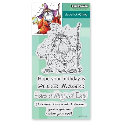 Penny Black Cling Stamp WIZ Rubber Unmounted 40 604 zoom image