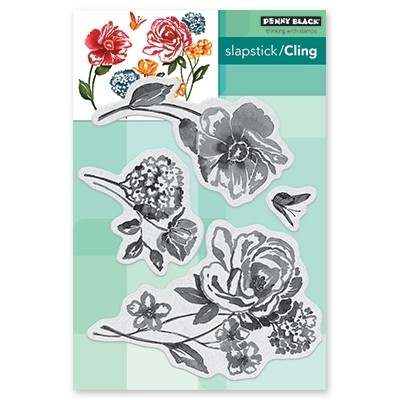 Penny Black Cling Stamp FLOWER PAGEANT Rubber Unmounted 40-601* zoom image