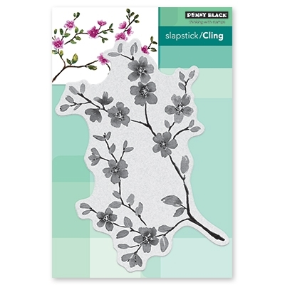 Penny Black Cling Stamp FLORAL BLISSFUL BLOOMS Rubber Unmounted 40-600* zoom image
