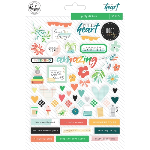 Pinkfresh Studio LET YOUR HEART DECIDE Puffy Stickers pfrc100318 Preview Image