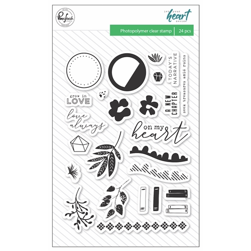 Pinkfresh Studio LET YOUR HEART DECIDE Clear Stamp Set pfrc101318 Preview Image