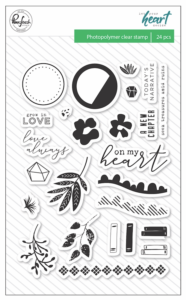 Pinkfresh Studio LET YOUR HEART DECIDE Clear Stamp Set pfrc101318 zoom image