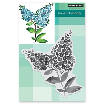 Penny Black Cling Stamp LILACS Rubber Unmounted 40-592 Preview Image
