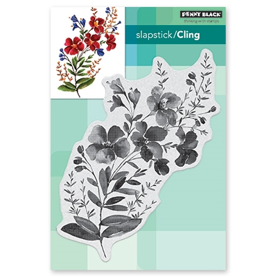 Penny Black Cling Stamp BLOSSOM BRANCH Rubber Unmounted 40-588 zoom image