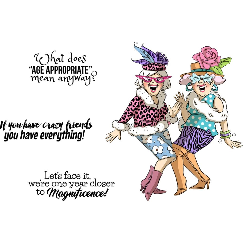 Art Impressions CRAZY FRIENDS Cling Rubber Stamps 4989 zoom image