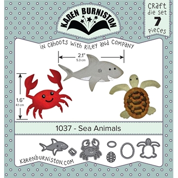 Karen Burniston SEA ANIMALS Die Set 1037
