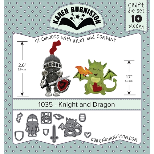 Karen Burniston KNIGHT AND DRAGON Die Set 1035 Preview Image