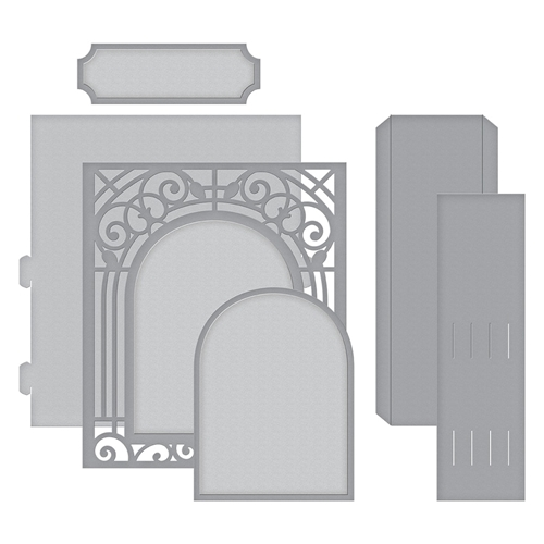 S6-138 Spellbinders GRAND ARCH 3D Card Etched Dies Elegant 3D Vignettes by Becca Feeken Preview Image