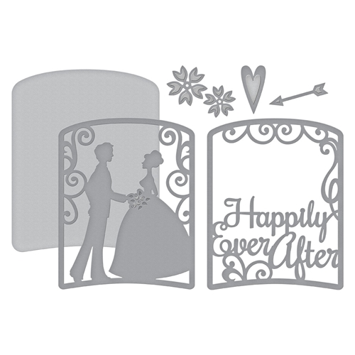 S4-865 Spellbinders LAYERED HAPPILY EVER AFTER Etched Dies Elegant 3D Vignettes by Becca Feeken Preview Image