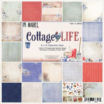49 and Market COTTAGE LIFE 8X8 Paper Pack CL-86561*