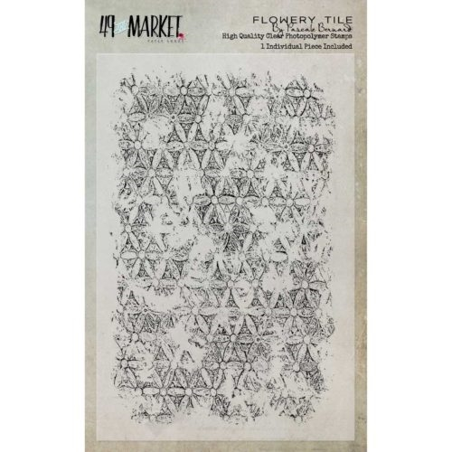 49 and Market FLOWERY TILE Clear Stamp Set PB-87490* Preview Image