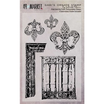 49 and Market GABI'S ORNATE Clear Stamp Set GP-87520*
