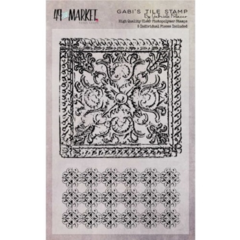 49 and Market GABI'S TILE Clear Stamp Set GP-87537*