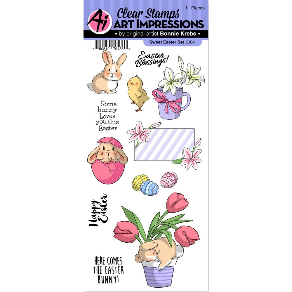 Art Impressions SWEET EASTER Clear Stamps 5004 zoom image
