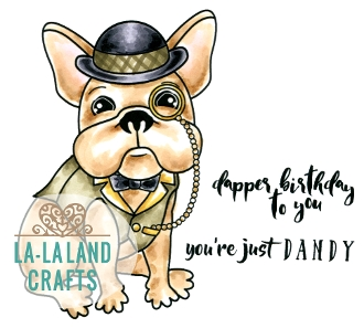 La-La Land Crafts Cling Stamp DANDY FRENCHIE 7019* Preview Image