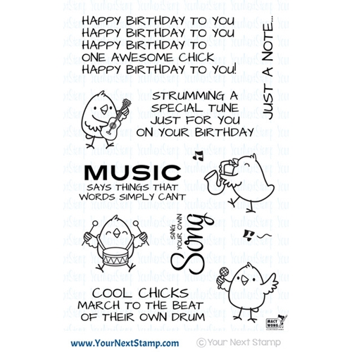 Your Next Stamp MUSIC CHICKS Clear cyns587* Preview Image