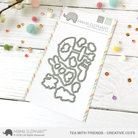 Mama Elephant TEA WITH FRIENDS Creative Cuts Steel Dies Preview Image