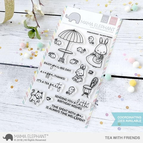 Mama Elephant Clear Stamp TEA WITH FRIENDS  Preview Image