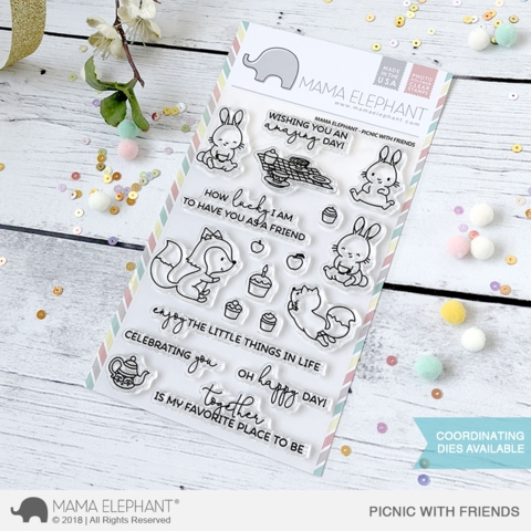 Mama Elephant Clear Stamp PICNIC WITH FRIENDS  Preview Image