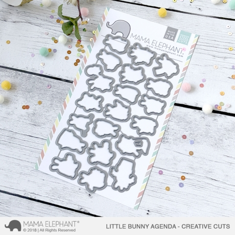 Mama Elephant LITTLE BUNNY AGENDA Creative Cuts Steel Dies Preview Image